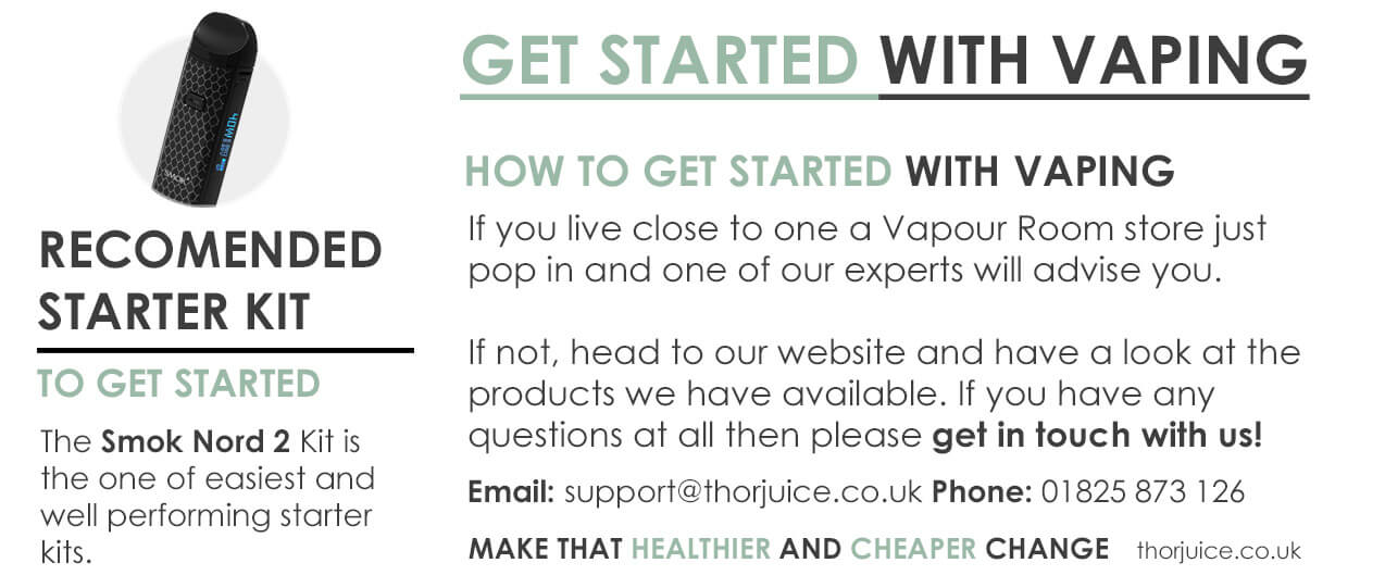 Get started vaping and what kit is recommended