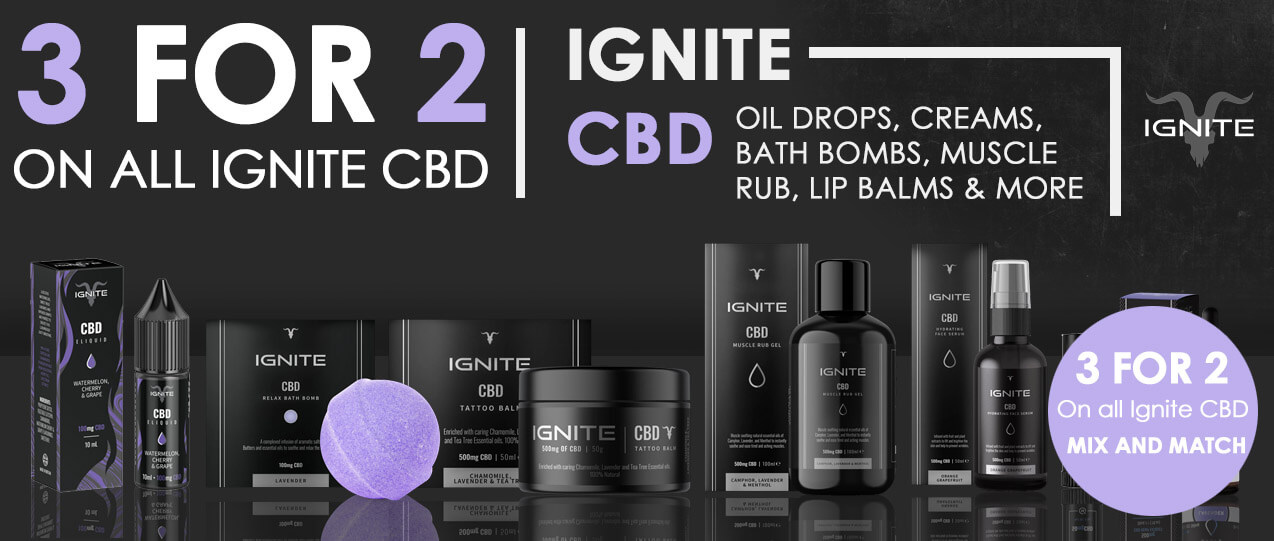 3 for 2 on all ignite cbd