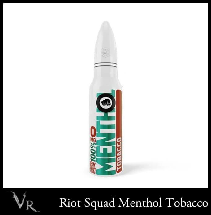 riot squad 100% menthol tobacco