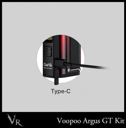 voopoo gt argus vape kit charging type c